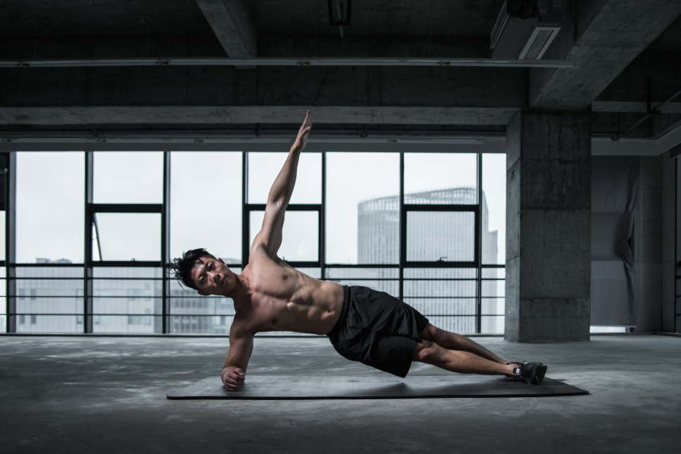 control focus with a regular routine like working out