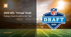 header image with football field lights on and nfl 2020 draft logo