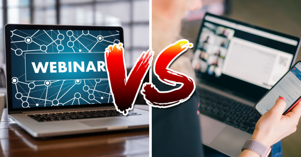 two images side by side webinars versus virtual events