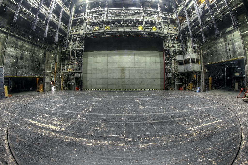 Stage in the abandoned theatre