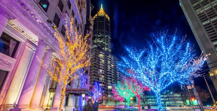 midtown atlanta christmas lights from magnum
